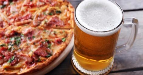 Пицца и пиво